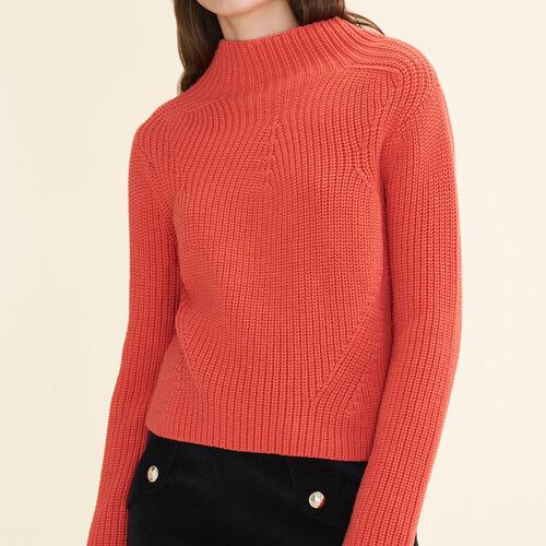 Pullover in maglia spessa : Pullover e cardigan colore Arancio