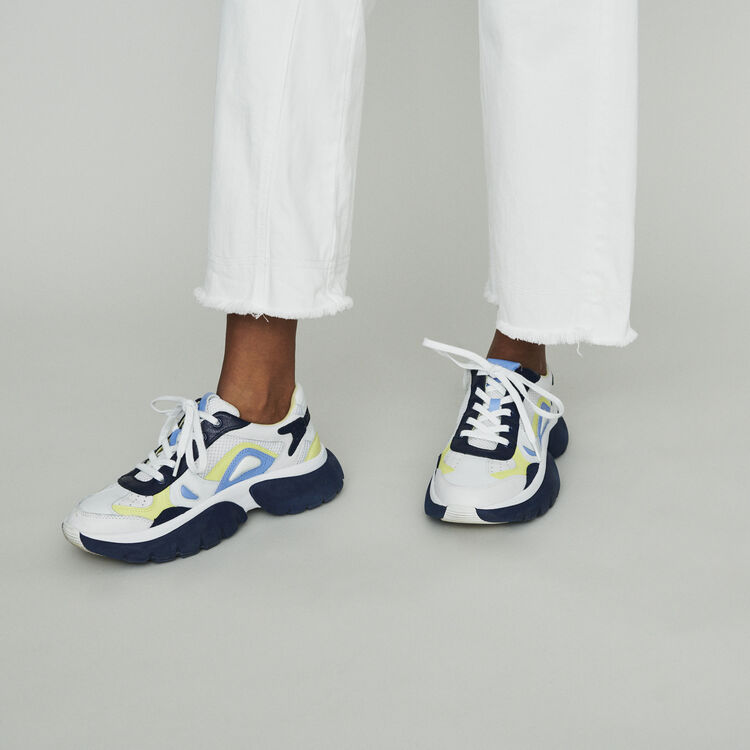 Sneakers W20 urbane in pelle : Sneakers colore Blu