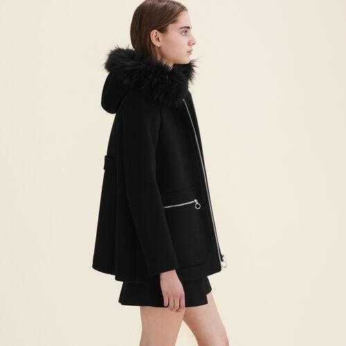 Cappotto con zip fantasia - Cappotti - MAJE