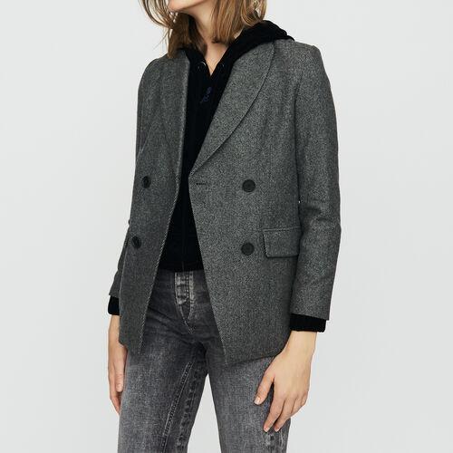 Blazer in misto lana : Office girl colore Grigio