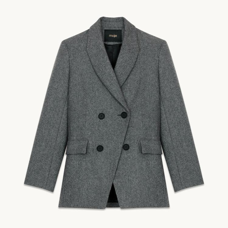 Blazer in misto lana : Giacche colore Grigio