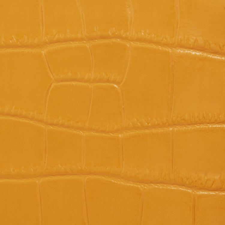 Mini-borsa M in coccodrillo con catena : M Mini colore Giallo