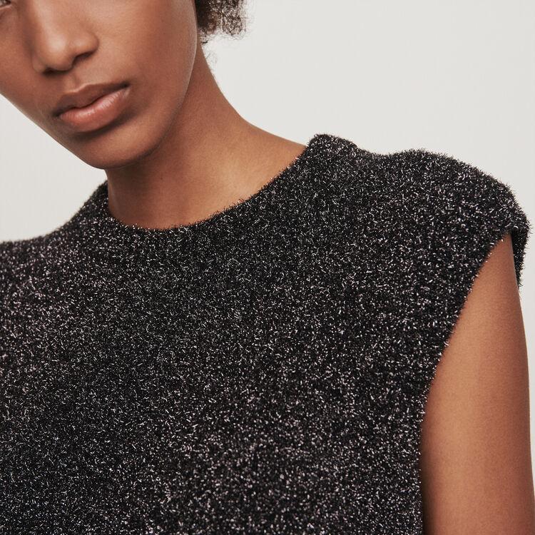 Pull senza maniche in Lurex : Pullover e cardigan colore Argento