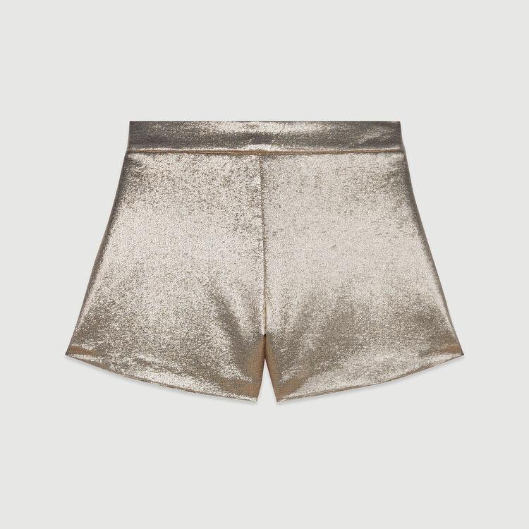 Short in misto seta : Gonne e shorts colore Oro