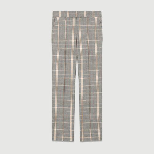 Pantaloni dritti a quadri : Pantaloni colore CARREAUX