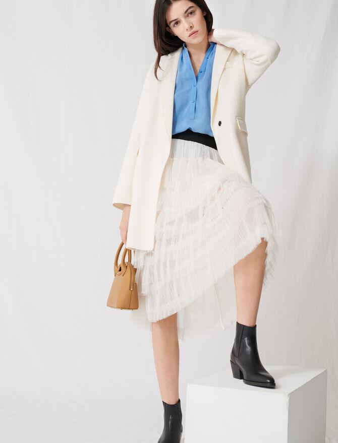 Cappotto bianco double-face midi -  - MAJE