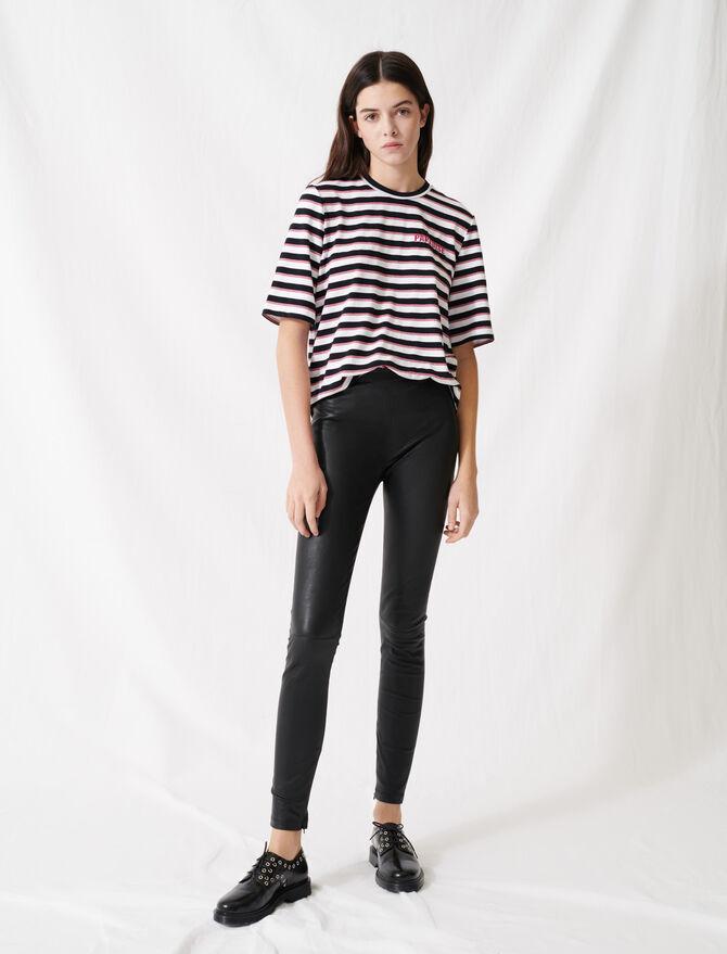 Legging cuir stretch taille haute - Pantaloni e Jeans - MAJE