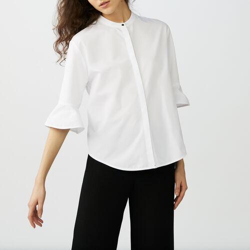 Camicia oversize in popeline : Camicie colore Bianco