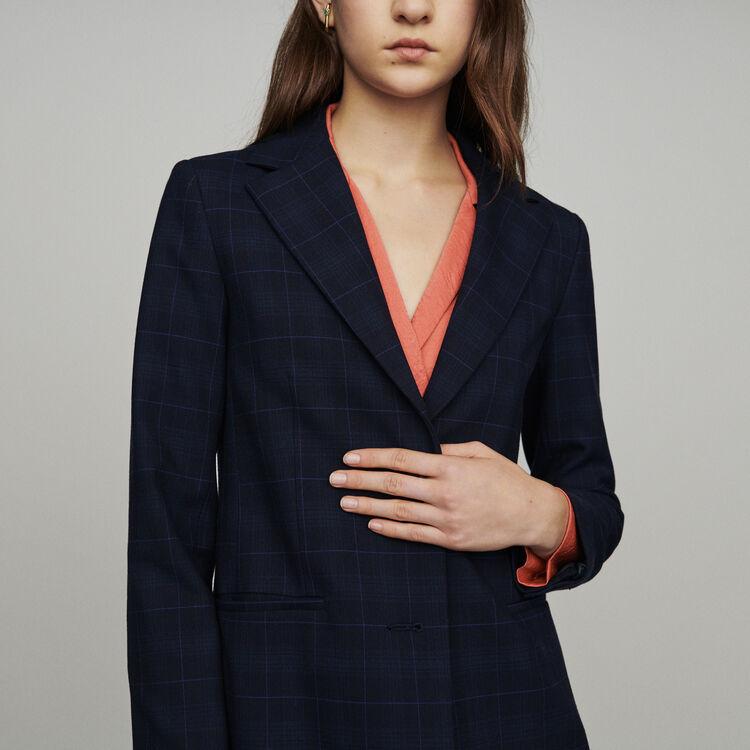 Giacca tailleur a quadri : Giacche colore Blu Marino