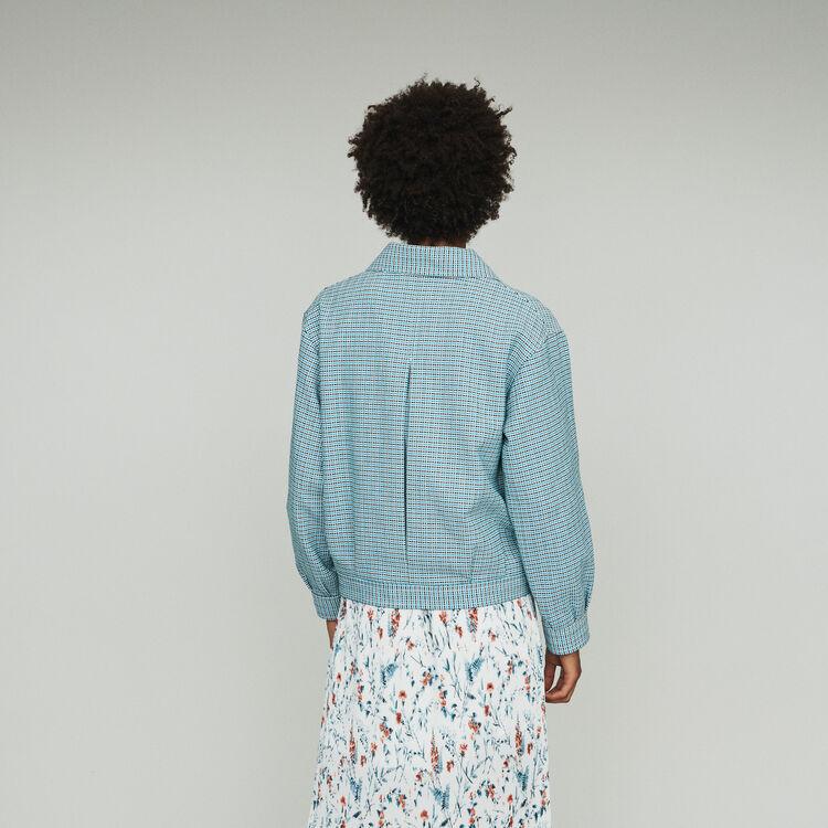 Giubbotto in natté stile tweed : Cappotti e Giubbotti colore Blu