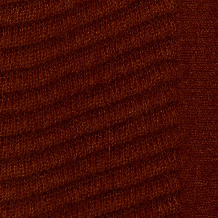 Cardigan in misto mohair e alpaca : Maglieria colore Caramello
