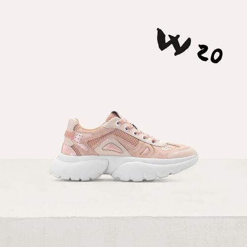 Sneakers W20 urbane in pelle : Sneakers colore Rosa