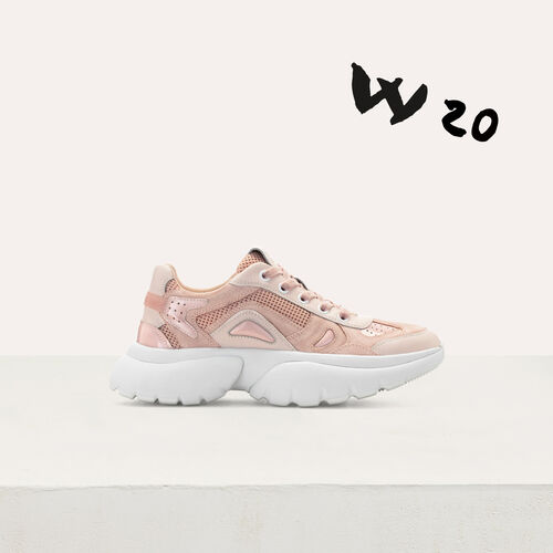 Sneakers W20 urbane in pelle : Sneakers colore Rosa