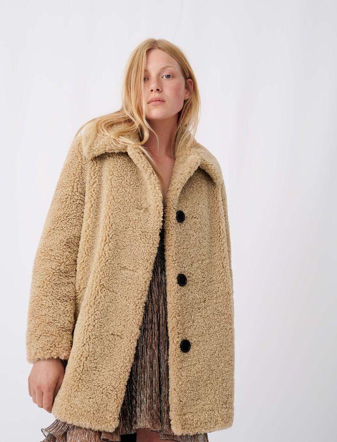 Cappotto di finta pelliccia - null - MAJE