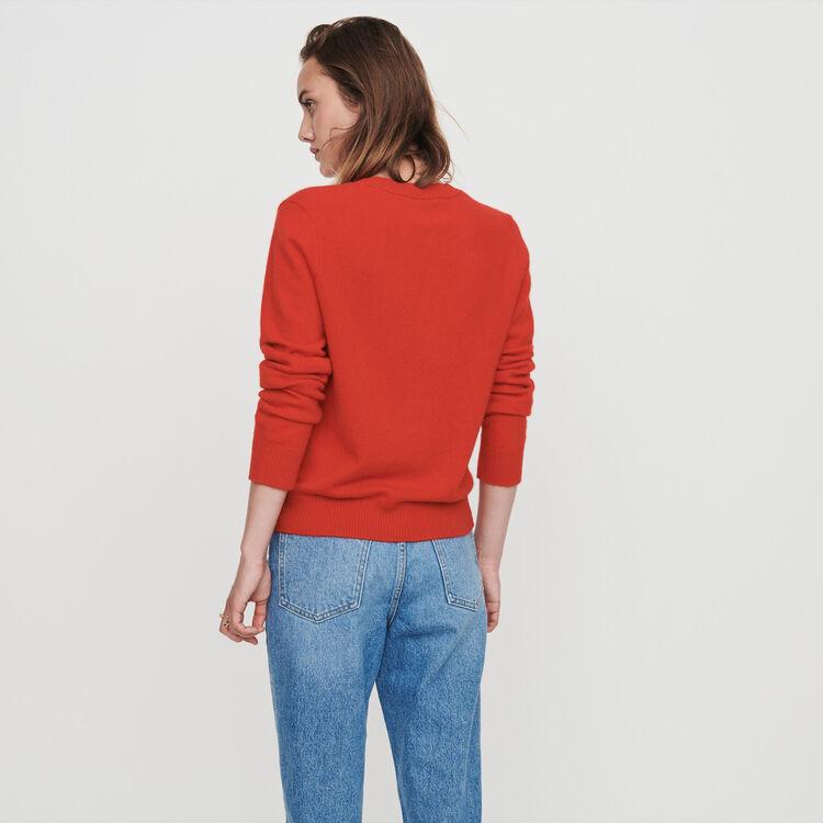 Pull con collo rotondo in cachemire : Pullover e cardigan colore Rosso