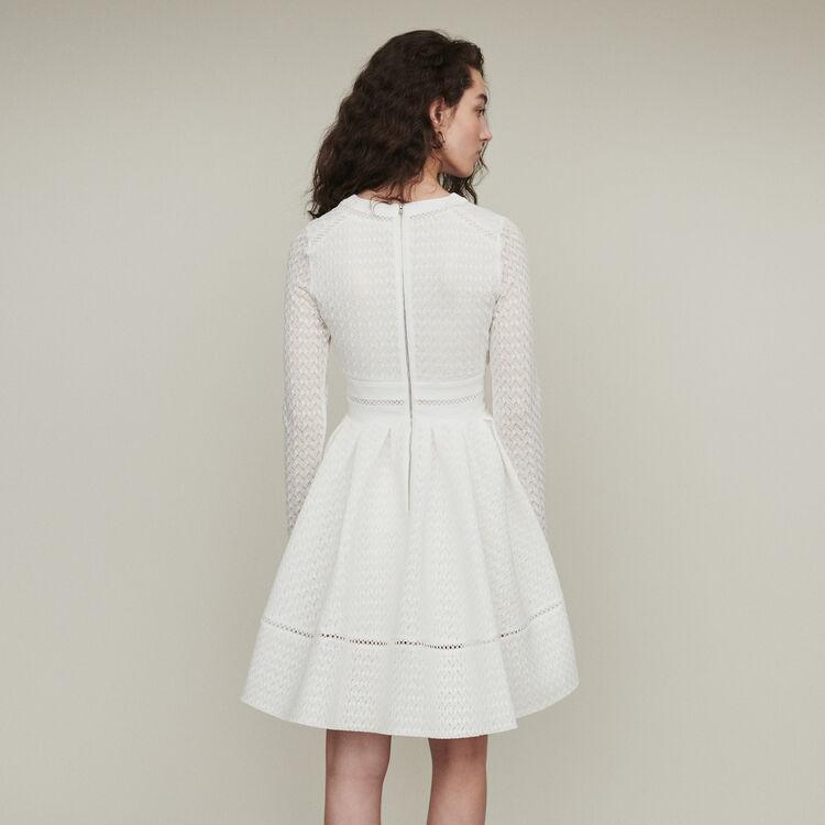 Vestito pattinatrice in pizzo : Vestiti colore Bianco