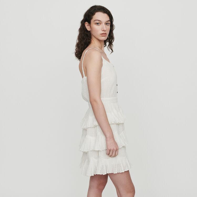 Vestito con bretelle e volant : Vestiti colore Bianco