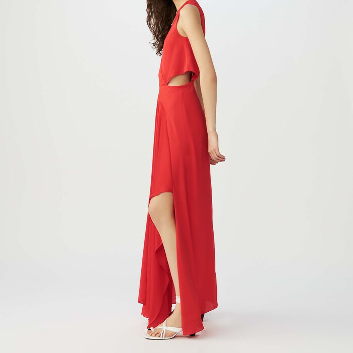 Vestito lungo senza maniche : Vestiti colore Rosso