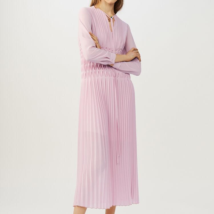 Vestito senza maniche plissettato : Vestiti colore LILA