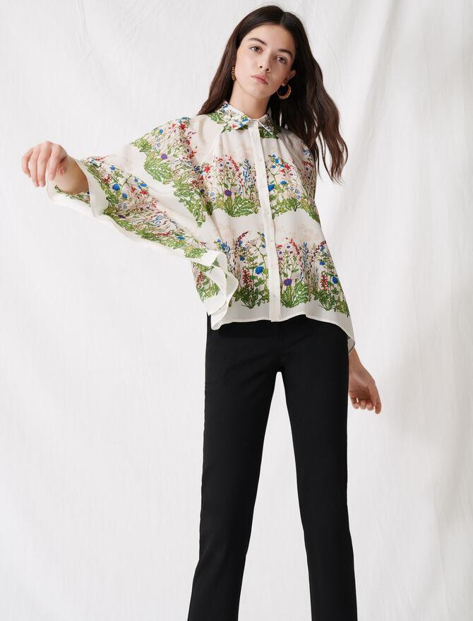 Camicia floreale oversize -  - MAJE