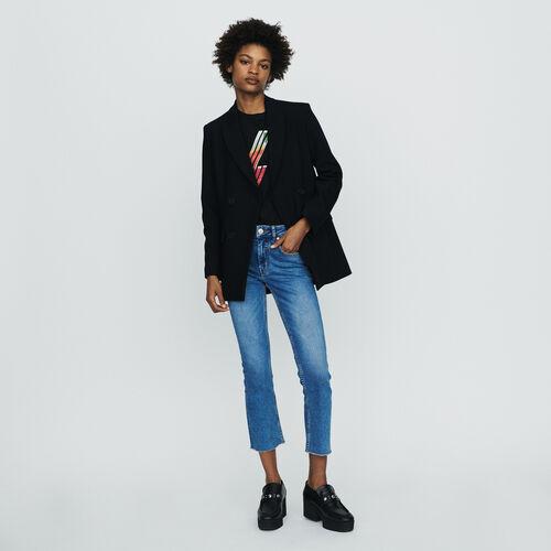 Giacca tailleur con bottoni : Giacche colore Nero