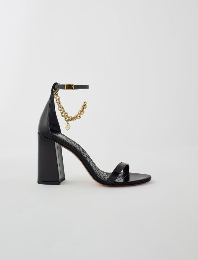 Sandali con tacco alto e catena dorata - Scarpe - MAJE