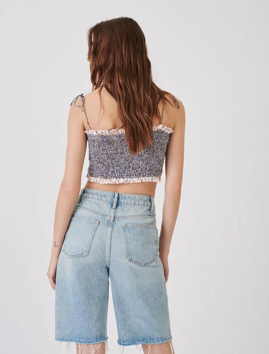 Bermuda dritti di jeans : Gonne e shorts colore Blu Chiaro