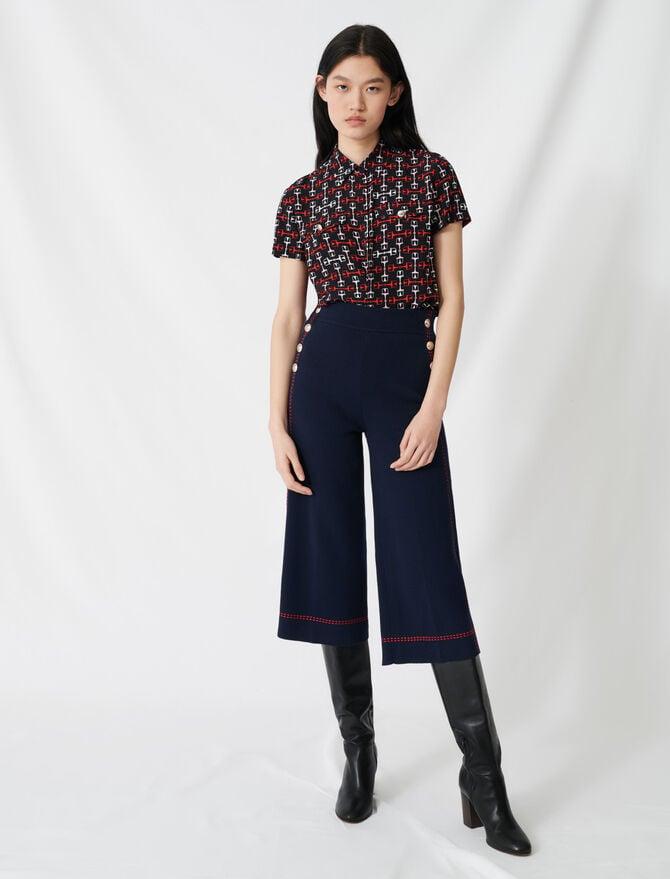 Pantaloni svasati impunture contrastanti - Pantaloni e Jeans - MAJE