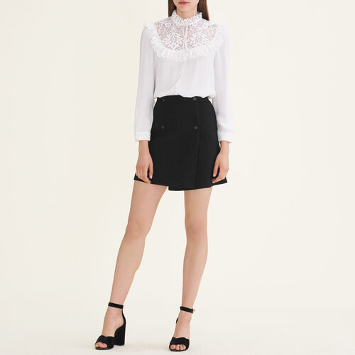 Gonna a portafoglio : Gonne e shorts colore Nero