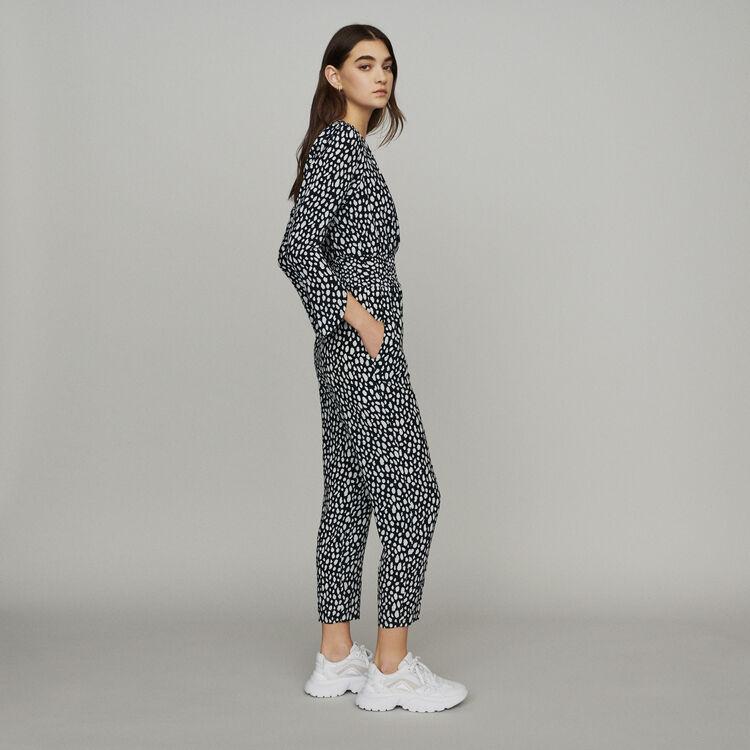 Tuta pantalone stampata : Pantaloni e Jeans colore Stampato