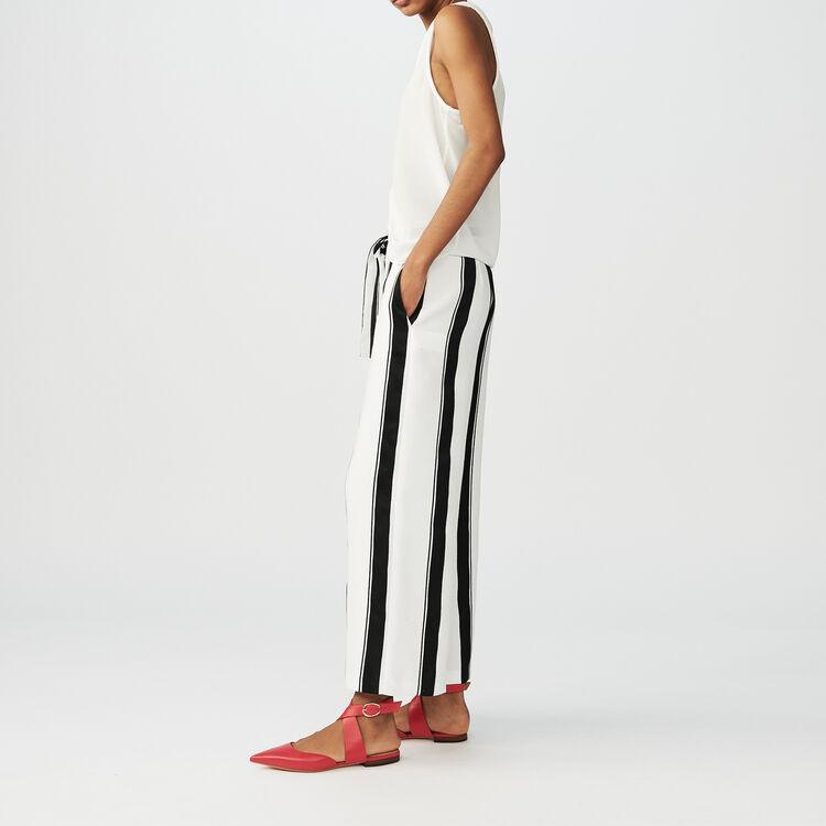Pantaloni larghi a righe : Pantaloni colore A Righe