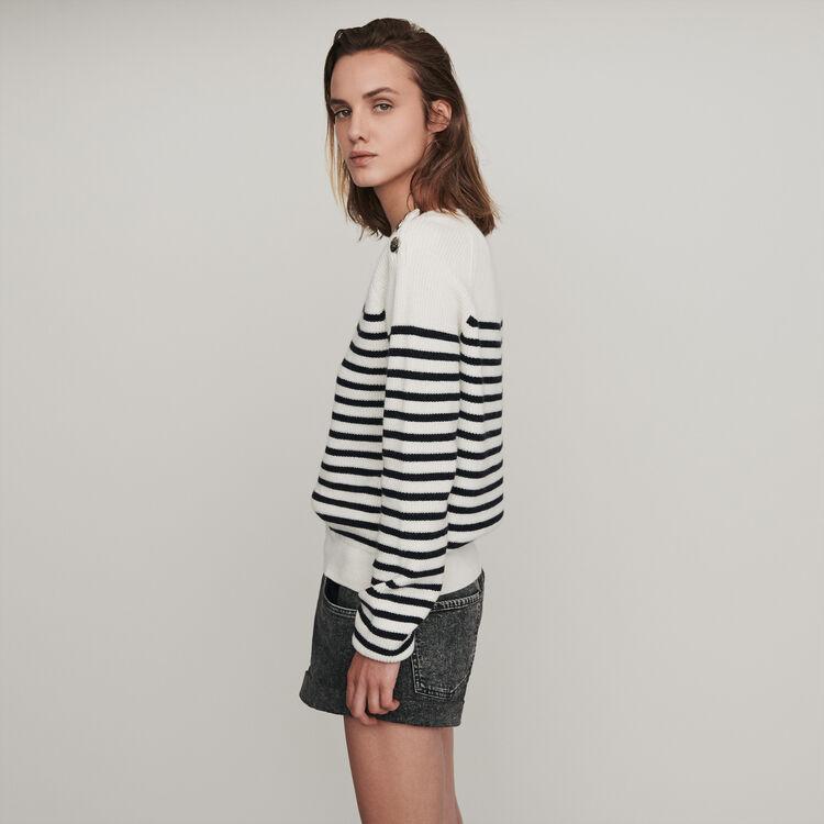 Pull stile marinaio : Pullover e cardigan colore Ecru