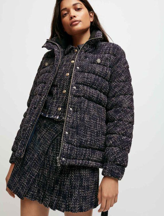 Piumino stile tweed con cintura - Cappotti e Giubbotti - MAJE