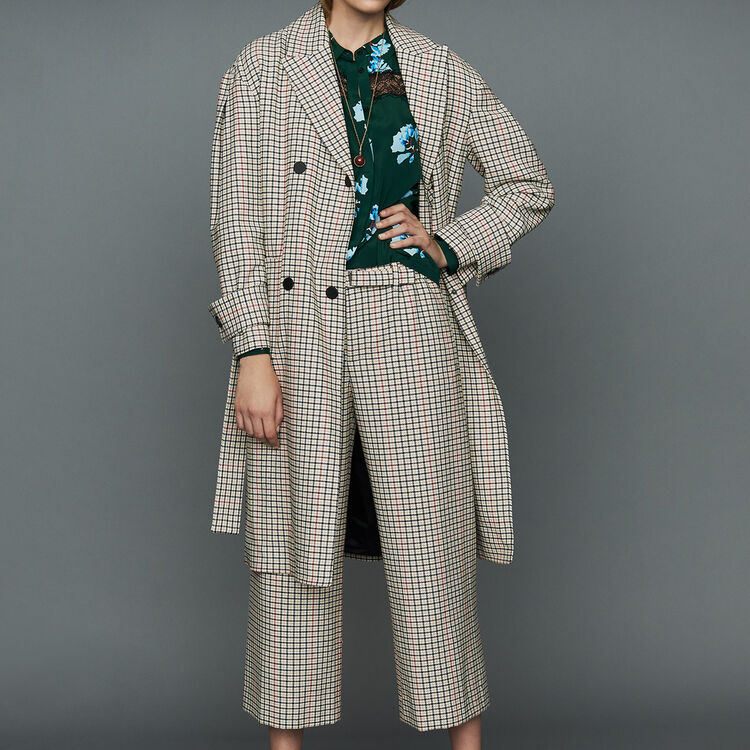 Cappotto dritto a quadri : Cappotti colore CARREAUX