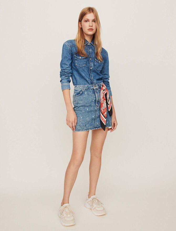 Camicia di jeans delavè - Vestiti - MAJE
