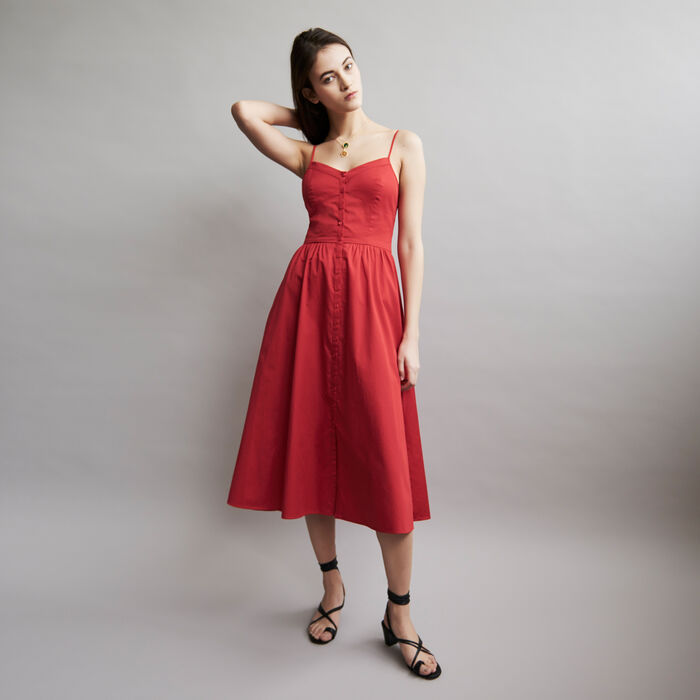 Thin straps dress and crop top : Vestiti colore ROUGE