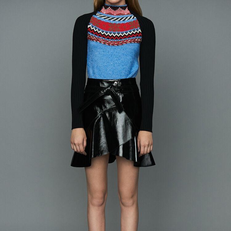 Pull in maglia jacquard fantasia : Maglieria colore Multicolore
