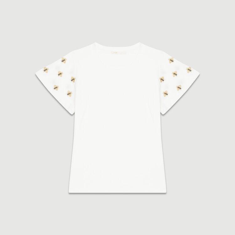 Tee-shirt con api ricamate : Novità colore