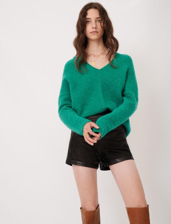 Maglione in maglia screziata scollo a V - Pullover e cardigan - MAJE