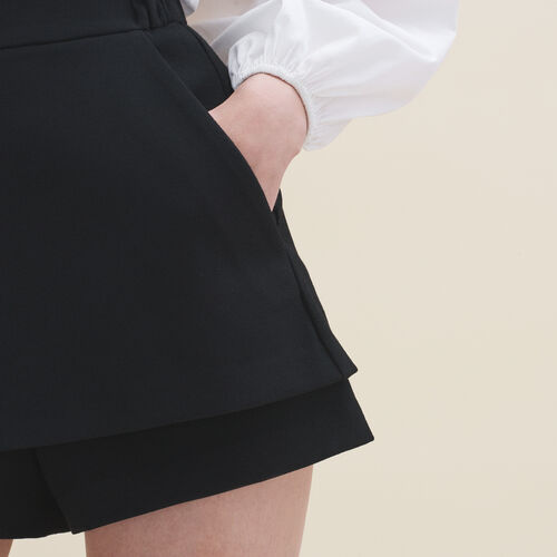 Short 2 in 1 : Gonne e shorts colore Nero
