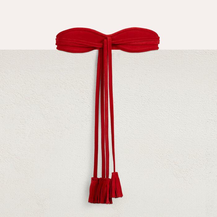 High size belt : Cinture colore Rosso