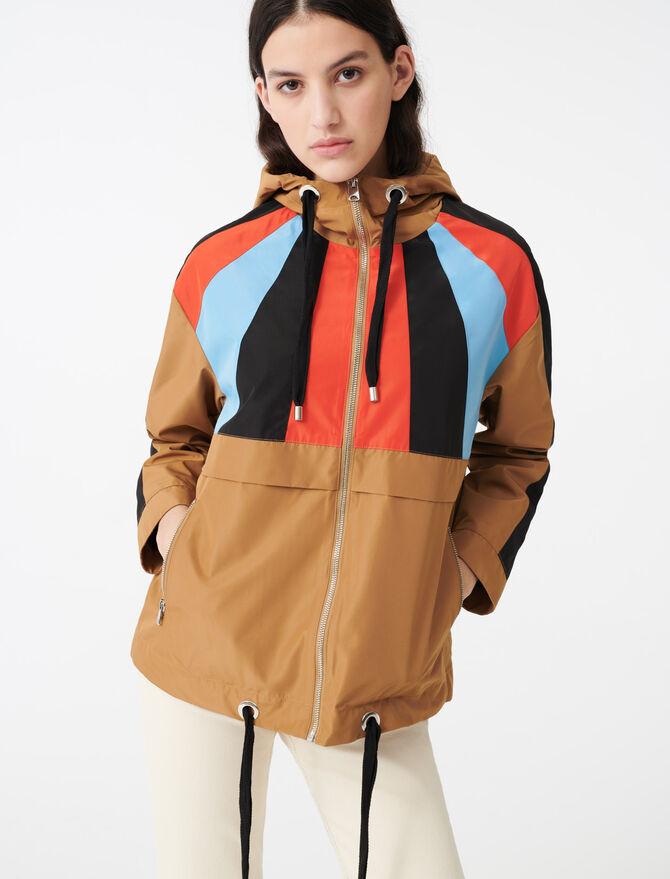Giacca a vento con cappuccio multicolore - Cappotti e Giubbotti - MAJE