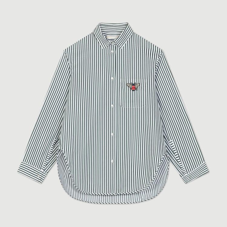Camicia in cotone a righe : Camicie colore A Righe