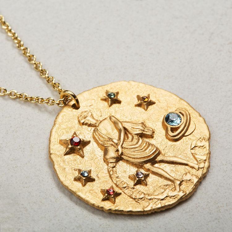 Collana segno zodiacale Acquario : Gioelli colore OR