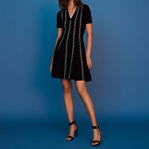 Vestito in maglia jacquard : Vestiti colore Nero