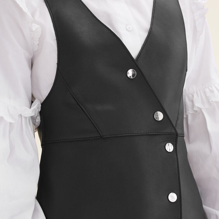 Abito senza maniche in pelle : Vestiti colore Nero