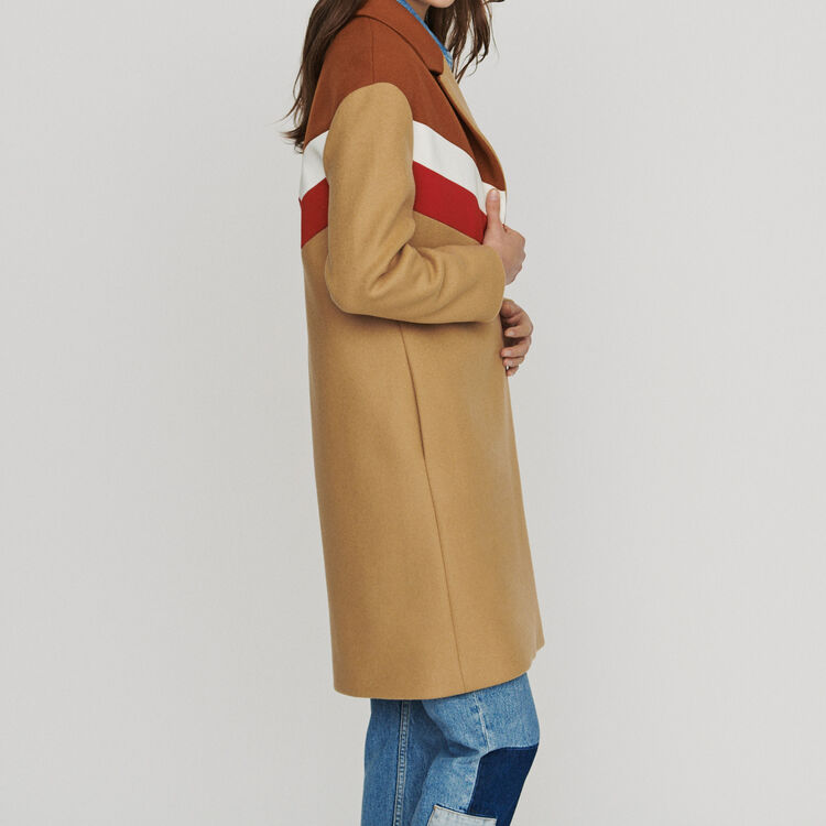 Cappotto oversize in lana vergine : Cappotti colore Cammello
