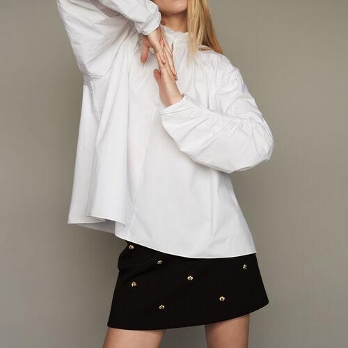 Camicetta oversize con increspature : Tops colore Bianco