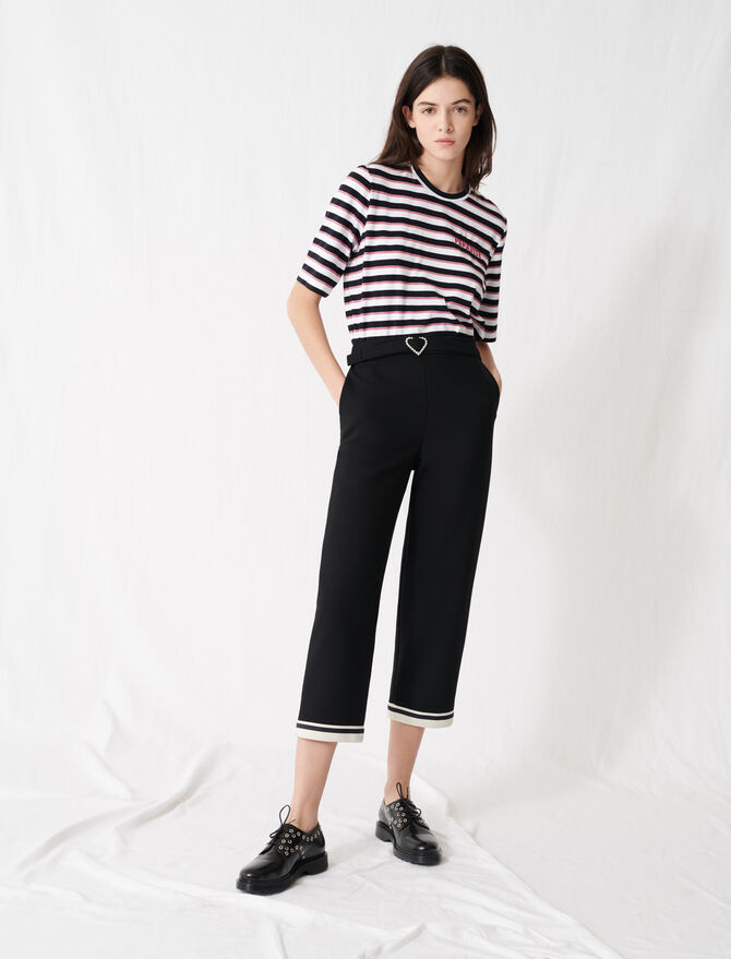 Pantaloni fibbia a cuore, orli sportivi - Pantaloni e Jeans - MAJE