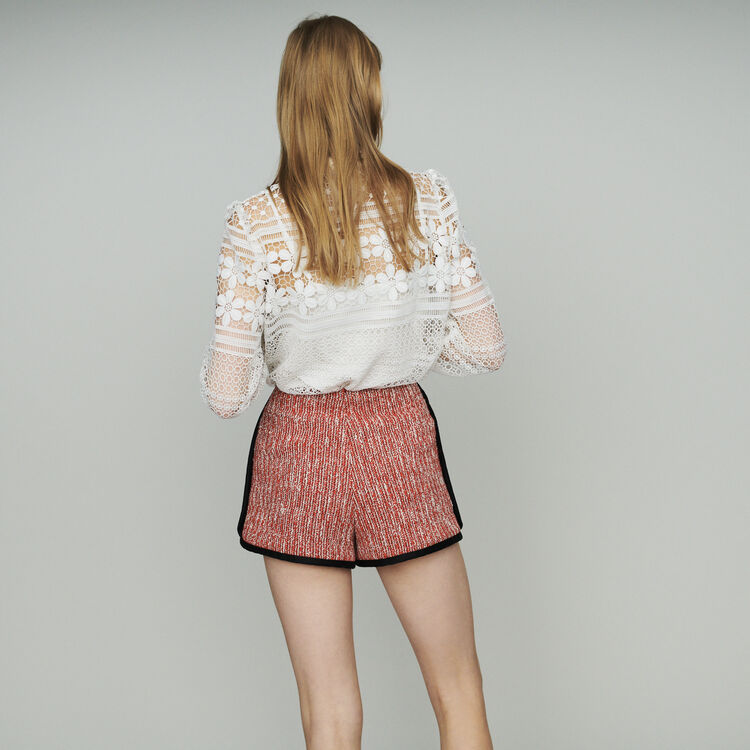 Short stile tweed : Gonne e shorts colore Rosso